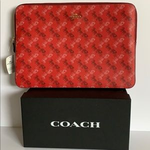 Coach Laptop Sleeve Horse and Carriage Red F88087
